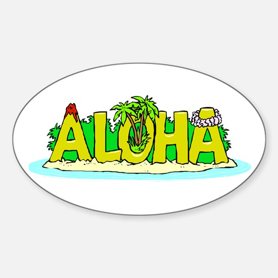 Aloha Oval Decal
