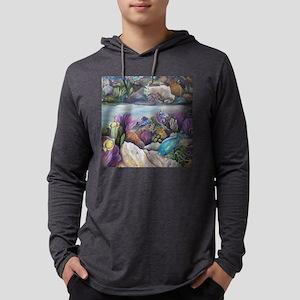 Tropical sea #3 5x5 parrotfish30 Mens Hooded Shirt
