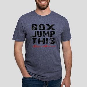 BOX JUMP THIS - WHITE Mens Tri-blend T-Shirt