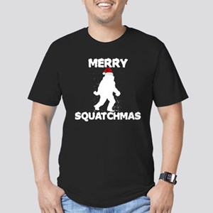 Merry Squatchmas Men's Fitted T-Shirt (dark)