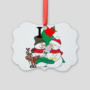 Smelling Deer Fart Picture Ornament