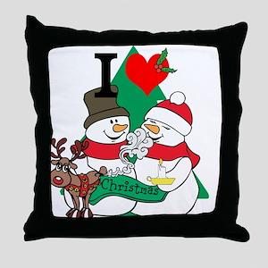 Smelling Deer Fart Throw Pillow