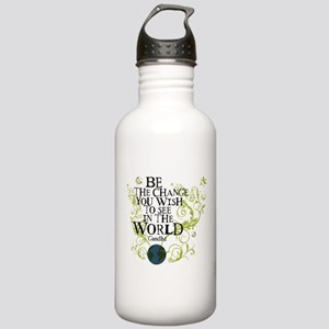 Be the Change - Earth - Green Vine Stainless Water