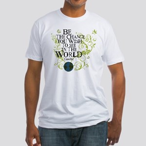 Be the Change - Earth - Green Vine Fitted T-Shirt