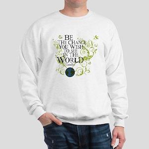 Be the Change - Earth - Green Vine Sweatshirt