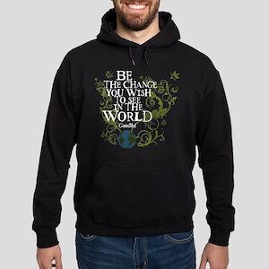 Be the Change - Earth - Green Vine Hoodie (dark)