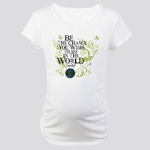 Be the Change - Earth - Green Vine Maternity T-Shi