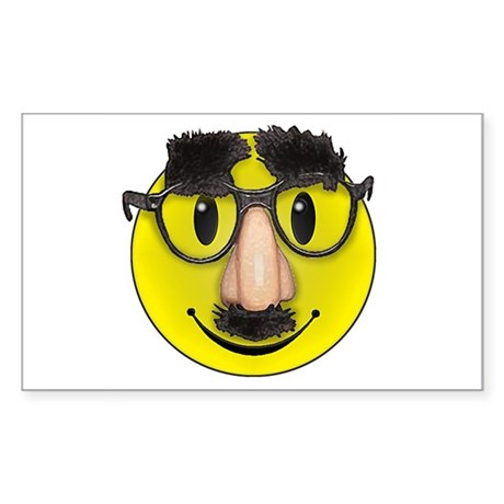 Smiley Disguise Cute Rectangle Sticker