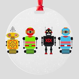 robots Round Ornament