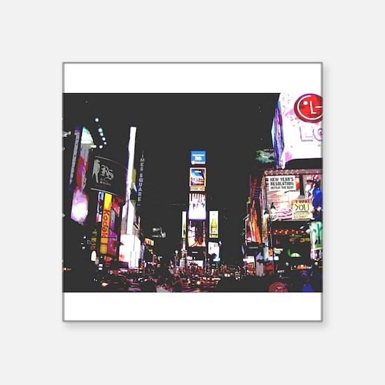 """Times Square 2 Square Sticker 3"""" x 3"""""""