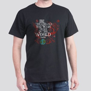 Be the Change - Earth - Red Vine Dark T-Shirt