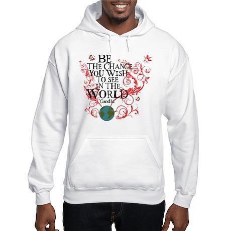 Be the Change - Earth - Red Vine Hooded Sweatshirt