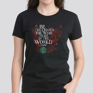 Be the Change - Earth - Red Vine Women's Dark T-Sh