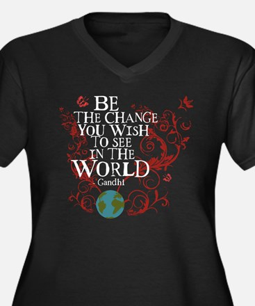 Be the Change - Earth - Red Vine Women's Plus Size