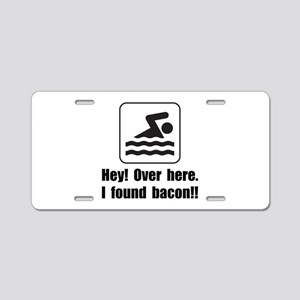 Found Bacon Aluminum License Plate