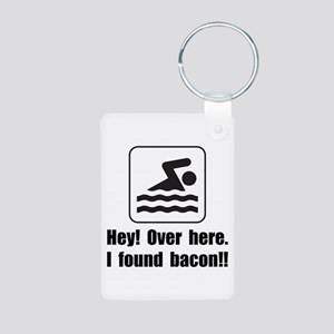 Found Bacon Aluminum Photo Keychain