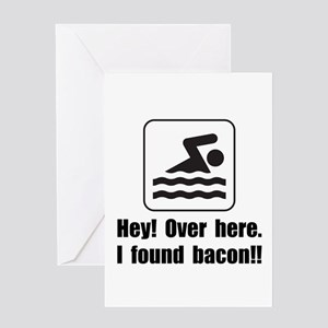 Found Bacon Greeting Card