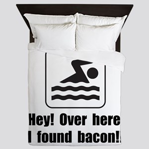 Found Bacon Queen Duvet