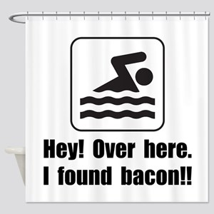 Found Bacon Shower Curtain