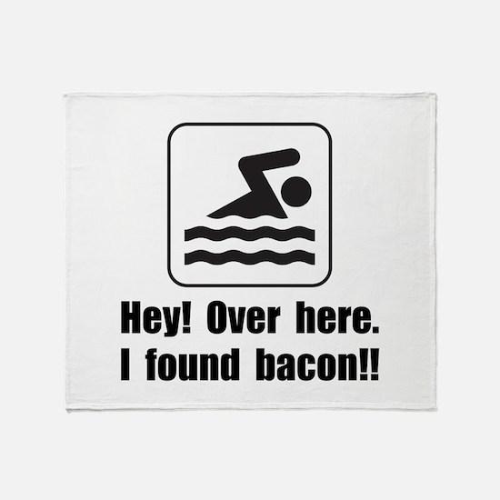 Found Bacon Throw Blanket