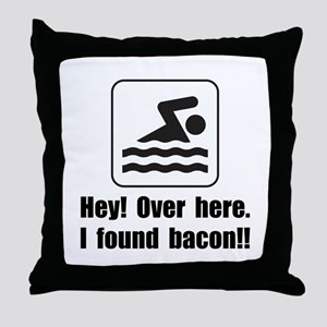 Found Bacon Throw Pillow