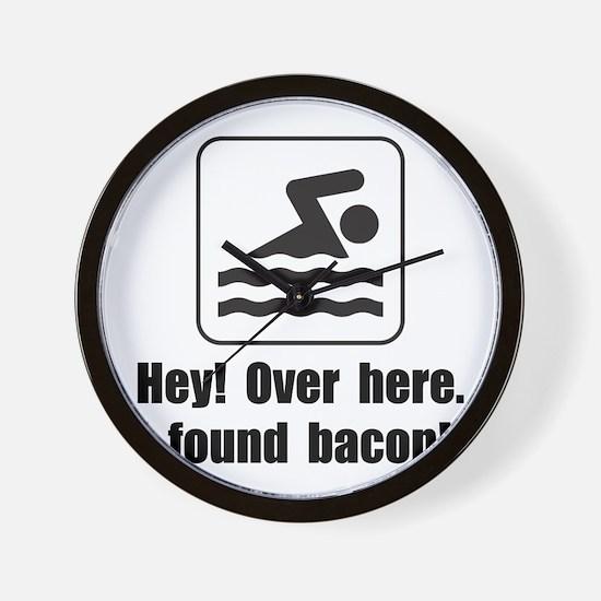 Found Bacon Wall Clock