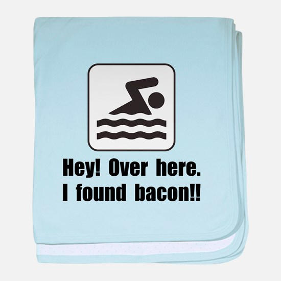Found Bacon baby blanket