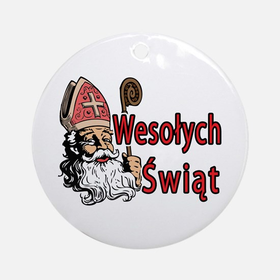 Wesolych Swiat Ornament (Round)