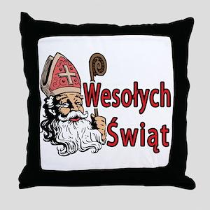Wesolych Swiat Throw Pillow