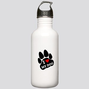 I Heart My Dog Stainless Water Bottle 1.0L