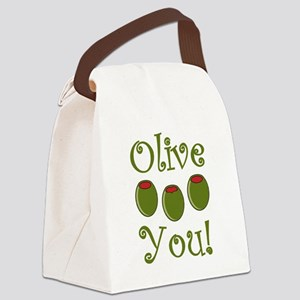 Ollive You Canvas Lunch Bag