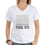 Fiddle Stix Women's V-Neck T-Shirt