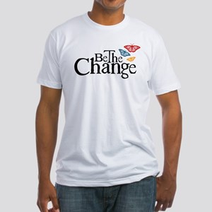 Be the Change - Earth - Red Vine Fitted T-Shirt