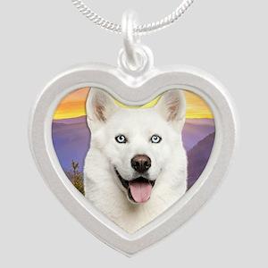 meadow2 Silver Heart Necklace