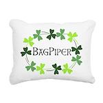 Bagpipe Shamrock Oval Rectangular Canvas Pillow