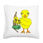 Bagpipe Chick Square Canvas Pillow