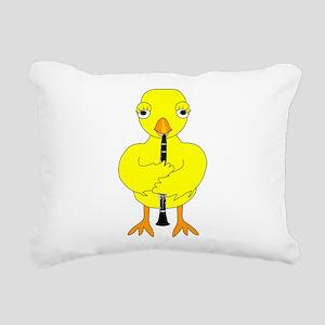 ClarinetChic Rectangular Canvas Pillow