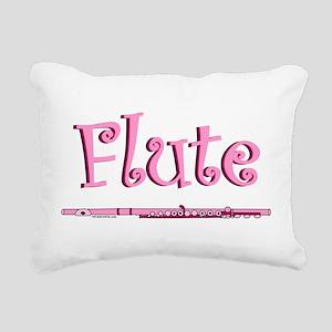 Pink Flute Rectangular Canvas Pillow