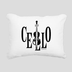Cello In Cello Rectangular Canvas Pillow