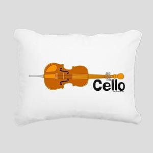 CelloHoriz Rectangular Canvas Pillow