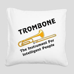 grayTromIntelBL Square Canvas Pillow