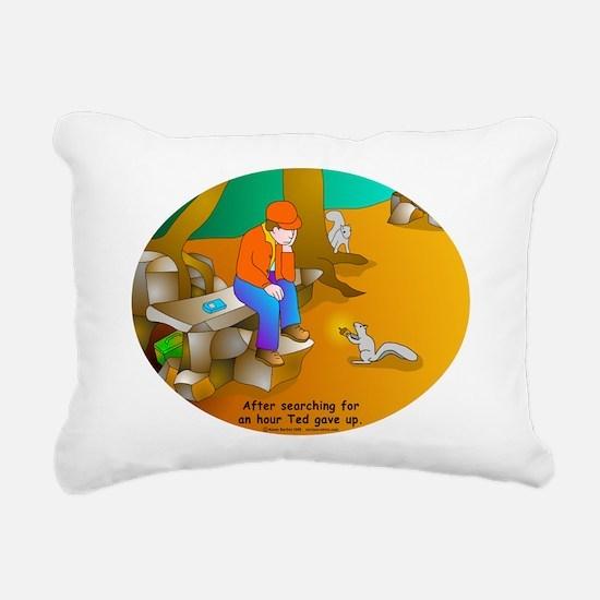 Geocaching Blues Rectangular Canvas Pillow