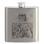 Vintage Cat Alice in Wonderland Flask