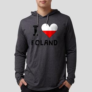 I Heart Poland Mens Hooded Shirt