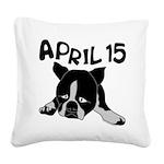 April 15 Square Canvas Pillow