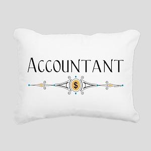 Accountant Decorative Line Rectangular Canvas Pill