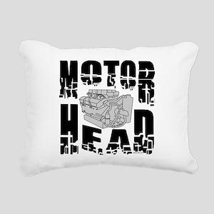 Motor Head Rectangular Canvas Pillow