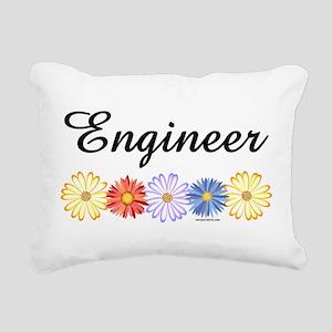 Engineer Asters Rectangular Canvas Pillow