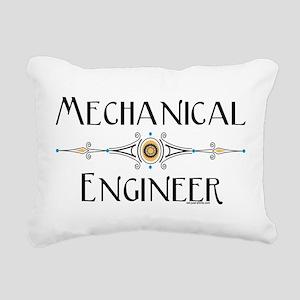 Mechanical Engineer Line Rectangular Canvas Pillow