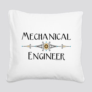Mechanical Engineer Line Square Canvas Pillow